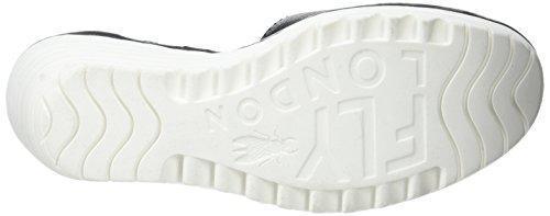 FLY London Yand709, Sandales Compensées  Femme Noir (Black/Off White)