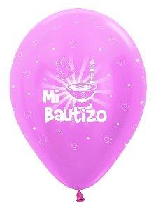 Sempertex - Bolsa de 10 globos sempertex r12 de 30 cm color satín rosa mi bautizo