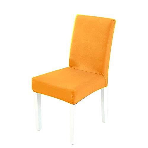 Umiwe 4 pezzi coprisedie con schienale protettiva in elastico, lavabile estraibile, schienale elasticizzato lavabile copertura della sedia, coprisedile, hotel, arredamento ristorante (d'oro)