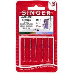 5original Singer Overlock 14U coser agujas 2054grosor 70/10y 90/14