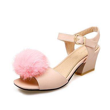 LvYuan Damen-Sandalen-Hochzeit Büro Kleid Lässig Party & Festivität-maßgeschneiderte Werkstoffe Kunstleder-Blockabsatz-Komfort Club-Schuhe-Rosa Pink