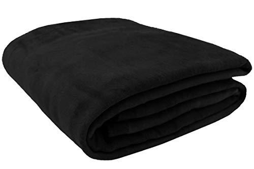 Zollner coperta per il divano nera 150x200cm, in tante misure e colori