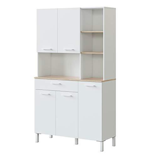 Habitdesign 0F9950A - Alacena de Cocina, Aparador, Mueble Auxiliar ...
