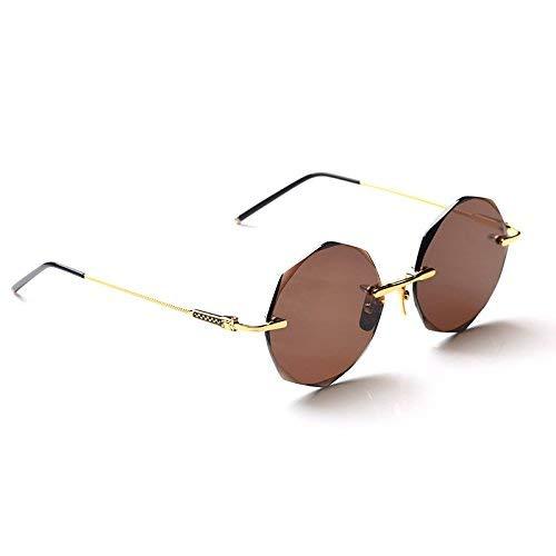 Ist Stil der natürlichen Kristall Rock Brille Männer und Frauen Stil der gehobene Sternanis Slice die Seite Sonnenbrille Mode, um EIN Auge zu behalten, um den Sonnenspiegel zu Fahren