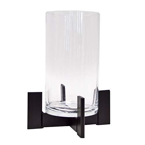 Varia Living Großes Windlicht/Laterne mit Glas aus Metall/Eisen für drinnen oder im Garten als Laterne wunderschön zum Dekorieren als Kerzenleuchter (H 32 cm/Ø 24)