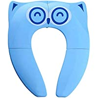 TOPBATHY Portable Toilet Seat Pads Folding Sitting Cushion Mat Toilet Potty Training Seat Covers Liners for Babies Toddlers Kids (Blue)