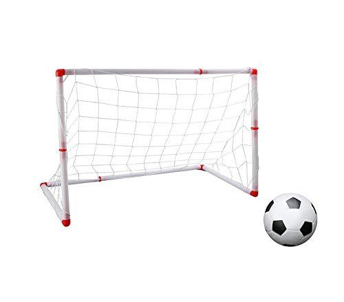 Fußballtor Mit Fußball Und Pumpe, Fußballtraining Sport Spielzeug, Trainingsball Indoor Outdoor, Für Jungen Und Mädchen Festival Geschenke,120Cm