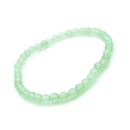 Armband, Jade Halbedelstein, Perlen, 4mm.-Glücksbringender Stein.