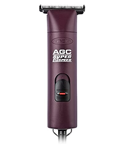 Andis ProClip 2-Speed Detachable Blade Clipper, Professional Animal Grooming, AGC2, Burgundy