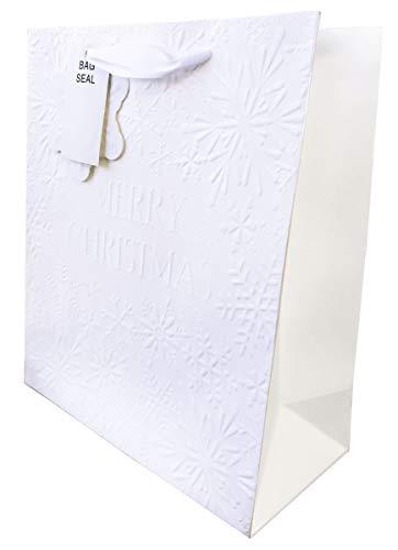 Geschenktüten für Weihnachten, mittelgroß, Weiß, 1 x Medium
