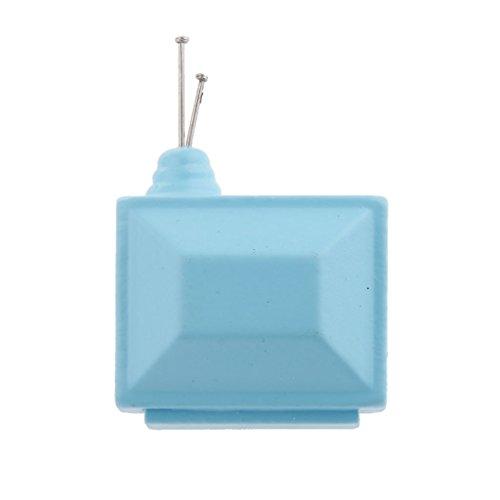 Generic 1:12 Scale Mini Bambole House Televisivo con Antenna, Doll House Mobili Accessori - Blu