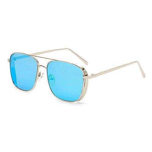 Herren Polarisierte Sonnenbrille Retro Punk Style Sonnenbrille für Frauen Männer Metallrahmen umrandeten Sonnenbrille Square Classic Unisex Sonnenbrille UV Schutz Sonnenbrille Fahren Sonnenbrille UV