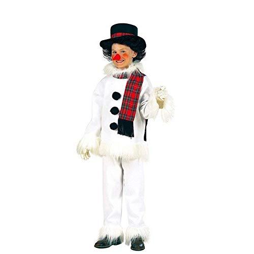 Lively Moments Kinderkostüm Schneemann mit Hut, Schal & Nase / Weihnachten Kostüm Gr. 158 (Schneemann Nase Kostüm)