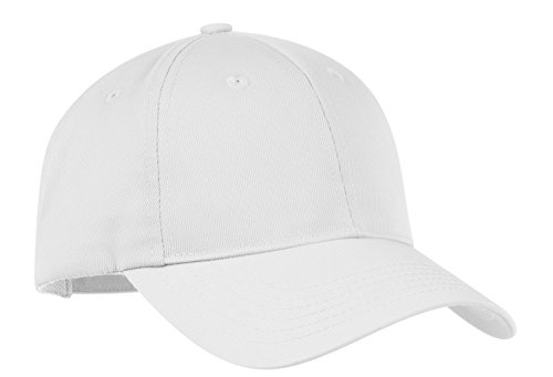 New Port Authority – Nylon Twill Performance Cap khaki-osfa Gr. Einheitsgröße , weiß (Twill Authority Cap Port)