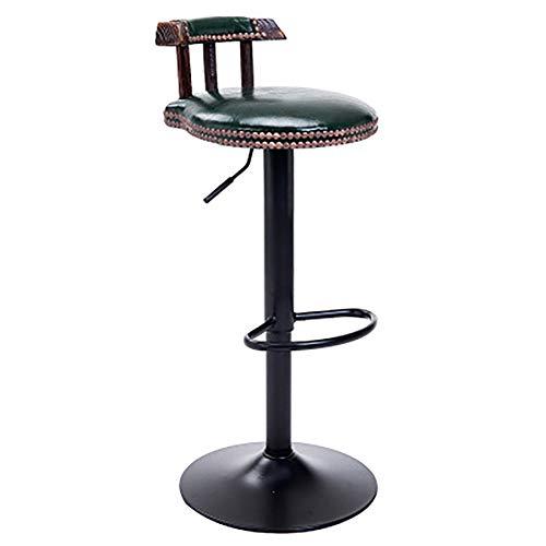 ASDUN Barhocker Aus Metall Set Mit RüCkenlehne, HöHenverstellbar 360 ° Drehbar Modern Schlichter Stil Gepolsterte SitzhöHe 75-95cm (Industrie-stil Esszimmer-sets)