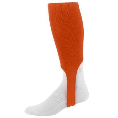 Augusta Baseball/Softball 17,8cm Steigbügel Socke Knie Länge Old School (Verkauft, als EIN Paar in 3Größen, 11Farben), Damen Mädchen Jungen Herren, Orange, Adult 10-13 -