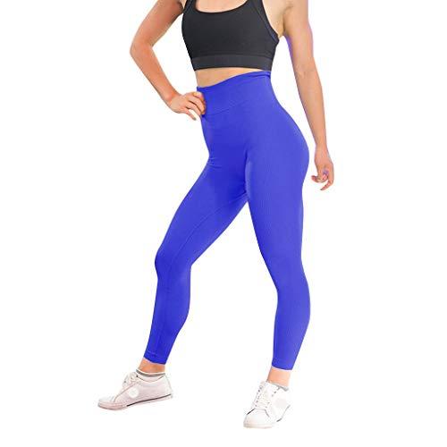 hahashop2 Damen Frauen Leggings Yoga Hosen Sport Yoga Workout Gym Fitness Übung Sportliche Hosen PantsEinfarbige Yogahosen aus Twill für Damen - Braun Twill-hose