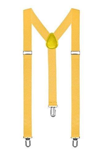 Clip-on regolabili Pantaloni Unisex Uomo Donna completamente elastico Y-back bretella bretelle di Bo