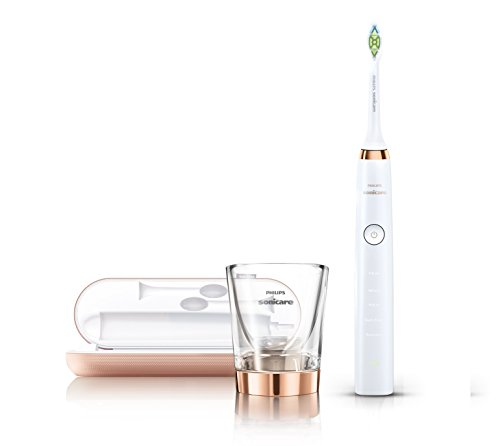 Philips Sonicare DiamondClean Electric Toothbrush - 2015 model Rose Gold Edition (UK 2-pin plug)