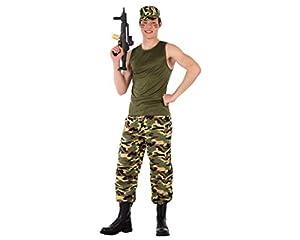 Atosa-61627 Atosa-61627-Disfraz Militar Hombre, Color verde, ADOLESCENTE (61627
