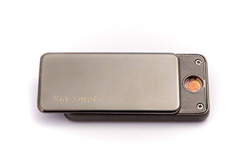 Big Smoke USB Elektro Feuerzeug Coil Lighter Schwarz