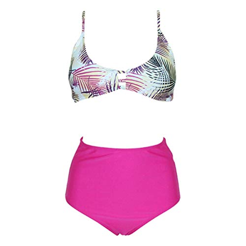 B-commerce Mode Hohe Taillenhose Bikini-Set - Damen Vintage Weiche Badeanzug Print Brazil Bademode