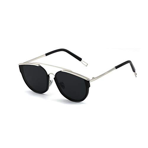 YIWU Sonnenbrille weibliche Hipster Retro Big Box Lange Gesicht Sonnenbrille männliche Sonnenbrille (Color : 3)