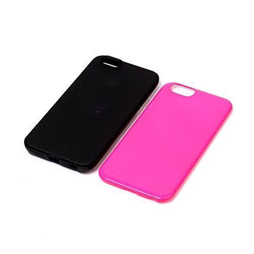 Custodia Cover per iPhone 6 iPhone 6S 4.7 Case ,Ukayfe 2 in 1 Ultra Slim Casa per iPhone 6 iPhone 6S 4.7,Protettiva Custodia stampato Design PC+ Silicone ibrido impatto grande Difensore custodia Combo Rosa caldo 4#