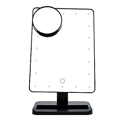 Anself 20 LEDs Kosmetikspiegel Make-up-Spiegel mit 10X Vergrößerungsspiegel
