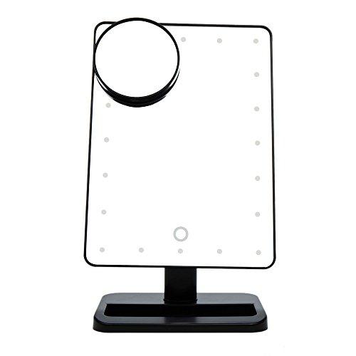 Anself-20-Leds-Espejo-Cosmtico-10x-Aumento-Espejito-de-Ventosa-para-MaquillajePantalla-Tctil-y-Rotativa