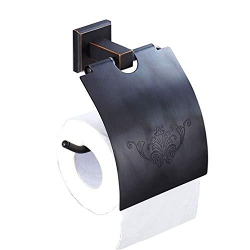LUDSUY Dekorative Wc Papier Halter Bad Vintage Retro Messing Tissue Papier Handtuch Halter Schwarz Wc Rollen Halter