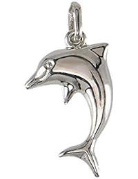 Colgante Niño Oro Blanco veritable- delfín