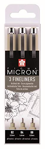 Caja de 3 rotuladores de punta fina Pigma Micron