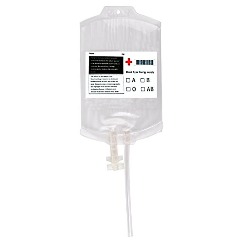 Newin Star Blutbeutel für Getränkebehälter-Satz von 10 Beuteln, klare Nahrungsmittelgrad PVC-Blut-Energie-Getränk-Beutel 350ml Halloween-Partei-Cup