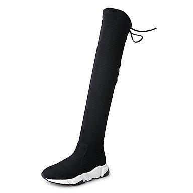 Wuyulunbi @ Femmes Chaussures Automne Hiver Mode Bottes Talon Plat Bout Rond Bottes Pour Habiller Parti Et Soir Noir, Noir, Us8 / Eu39 / Uk6 / Cn39 Us6 / Eu36 / Uk4 / Cn36