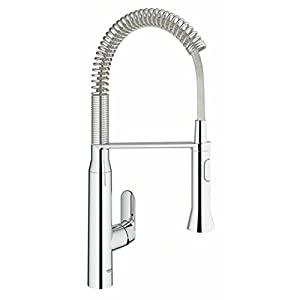 GROHE 30312000 K7 Single-Lever Kitchen Tap with Electronic Foot Control - Chrome