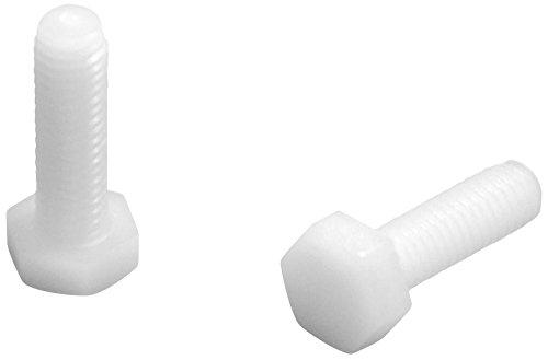 Ajile VHX120R Lot de 100 Vis plastique tête hexagonale M2 x 20 en Nylon polyamide pa6.6