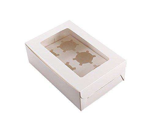 Cupcake Boxes Fenster Top & Einsatz für Hochzeit, Geburtstag, PARTY 10STÜCK (Mini-cupcake-box)