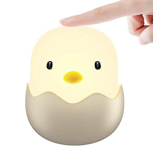 JYY Nachtlicht Für Kinder Eierschalen-Huhn-Baby-Berührungssteuerungs-Licht Baby-Schlafzimmer-Nachttischlampe Für Das Stillen,Warm-yellow-10.4 * 11.8cm