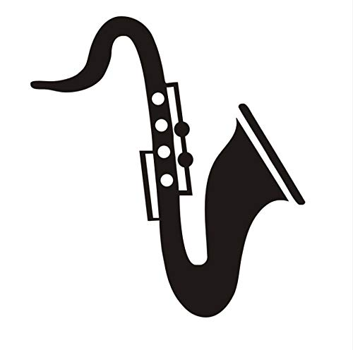Wasserdichte Tapete Saxophon Lustige Wandtattoos Schlafzimmer Kopfteil Dekorative Musikinstrument Vinyl Wandaufkleber Abnehmbare 40x44 cm