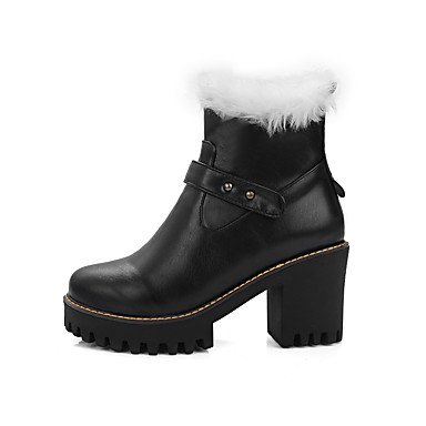 LFNLYX Da donna-Stivaletti-Formale-Stivali da neve / Punta arrotondata-Quadrato-Finta pelle-Nero / Marrone / Tessuto almond Brown