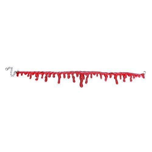 Gothic Collier 2, verstellbar Blood Drip Halsband Horror Frauen Dekoration für Halloween, 20,3cm ~ 38,1cm (Hollween Kostüme)