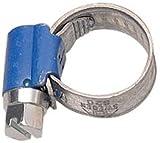 ABA 841445 - Abrazadera para tubos flexibles, 10 - 16 mm (rosca helicoidal, ancho de fleje 9 mm, 10 unidades) color azul