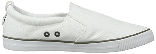 Calvin Klein Jeans DOLLY CANVAS, Chaussons avec doublure froide femme Blanc (White)