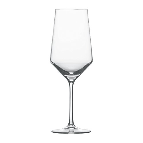 Schott Zwiesel 112420 Serie Pure 6-teiliges Bordeaux Rotweinglas Set, Kristallglas