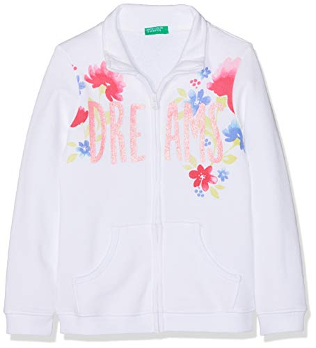 9bf9a3d4c6 United Colors of Benetton Jacket, Cappotto Bambina, (Bianco 101), Medium (