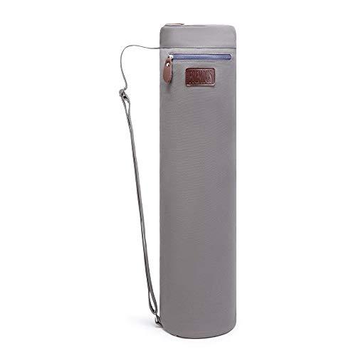 Fremous Bolsa para tapete de yoga/ Yoga Mat Bag Para esterillas de yoga y pilates de hasta 66 x 17,8 cm (gris)