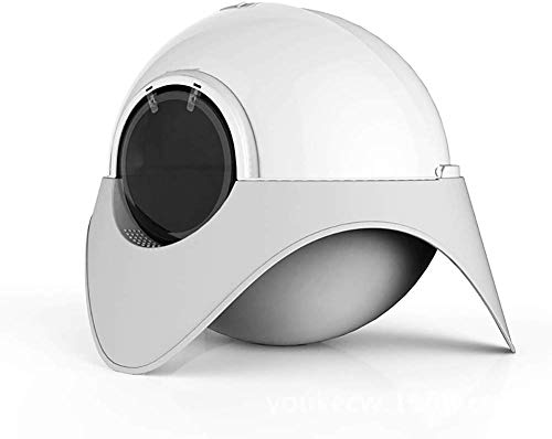 Geschlossen Katzentoilette, Raumkapsel Form Klokiste Leakproof Deodorant Katzentoilette, Rosa ccgdgft (Color : Gray)