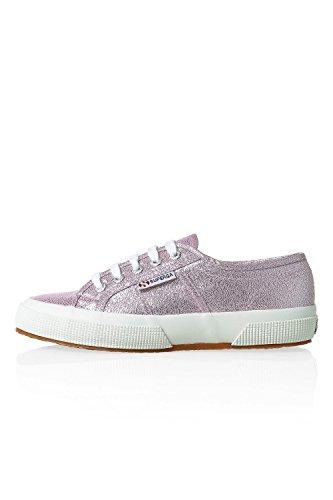 Superga Damen Sneaker Low Top Canvas Glitter (39,5, Pink Lavender) Canvas Low Top Sneaker