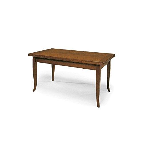 Tavolo 2 all lucido noce - 140x80 - 2 all. cm 40
